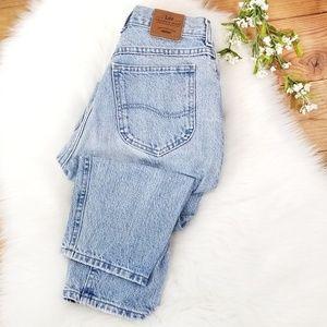 Vintage Lee High Rise Mom Jeans Light Tapered Leg